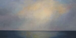 Gardiners Bay 36x72 2020 oil on canvas